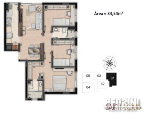 Saint Louis - Apto 3 Dorm, Santana, Porto Alegre (2943) - Foto 3